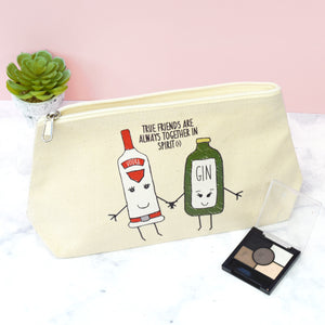 SLIGHT SECOND - 'Together in Spirits' Friendship Make Up Bag-Tote Bag-Of Life & Lemons®