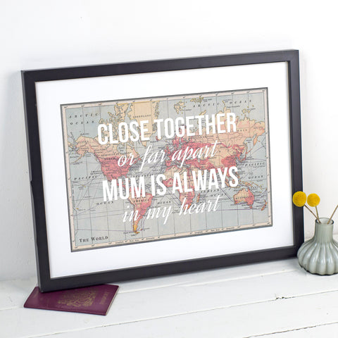 Personalised World Map Print for Mum-A4 Print-Of Life & Lemons®
