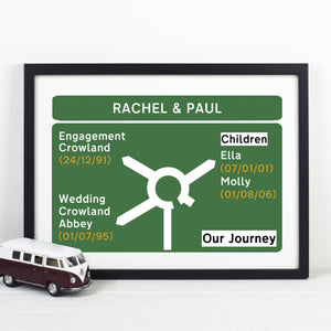 Personalised Road Sign Print-Of Life & Lemons®