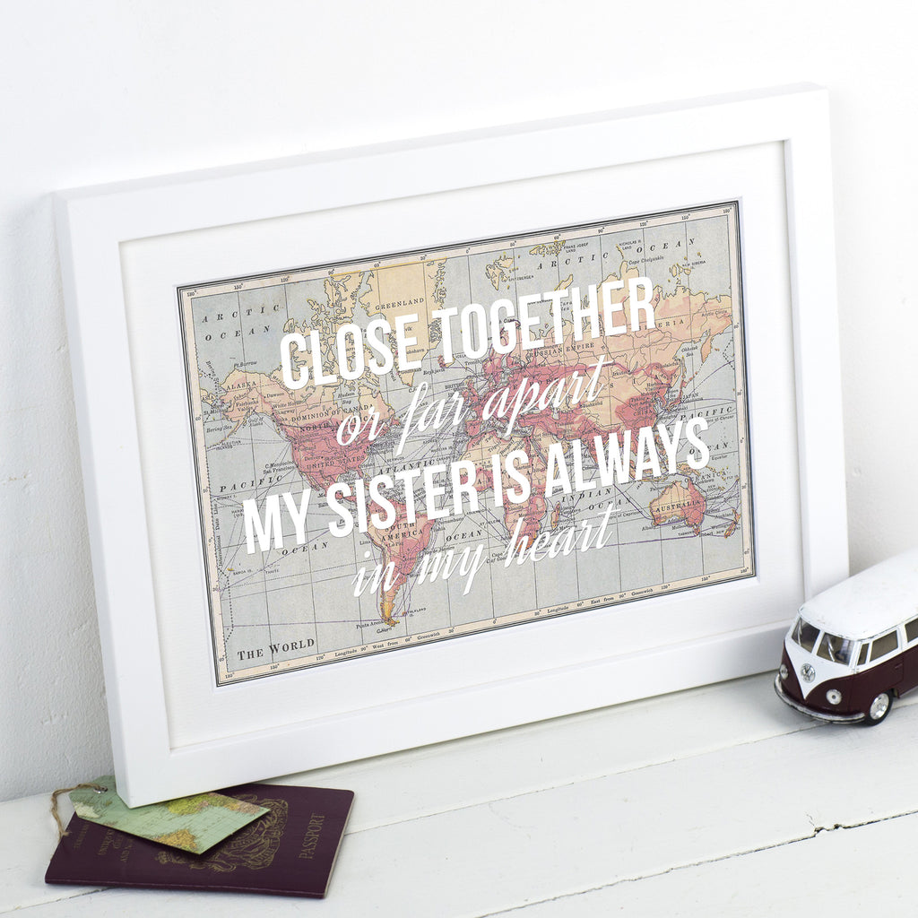 Personalised Sister Print-A4 Print-Of Life & Lemons®