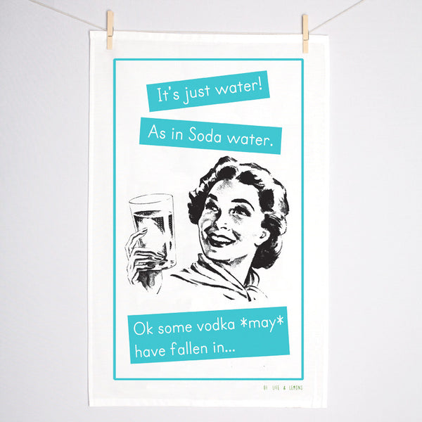 Funny Vodka Tea Towel