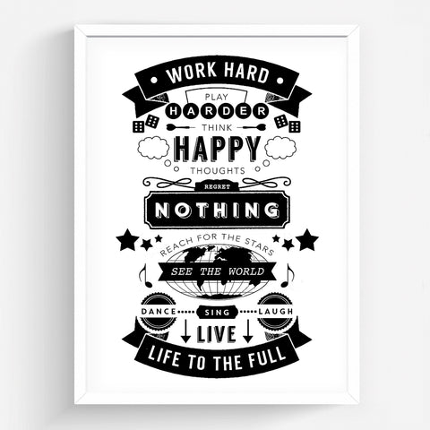 'Live Life To The Full' Print-A4 Print-Of Life & Lemons®