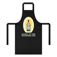 'Glory to the Newborn Gin' Christmas Apron-Aprons-Of Life & Lemons®