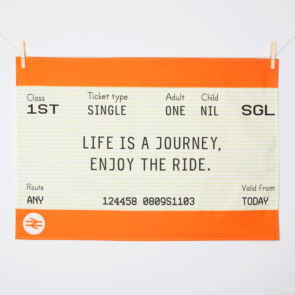 Train Ticket Tea Towel-Tea Towel-Of Life & Lemons®