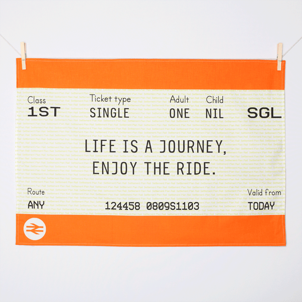 Train Ticket Tea Towel