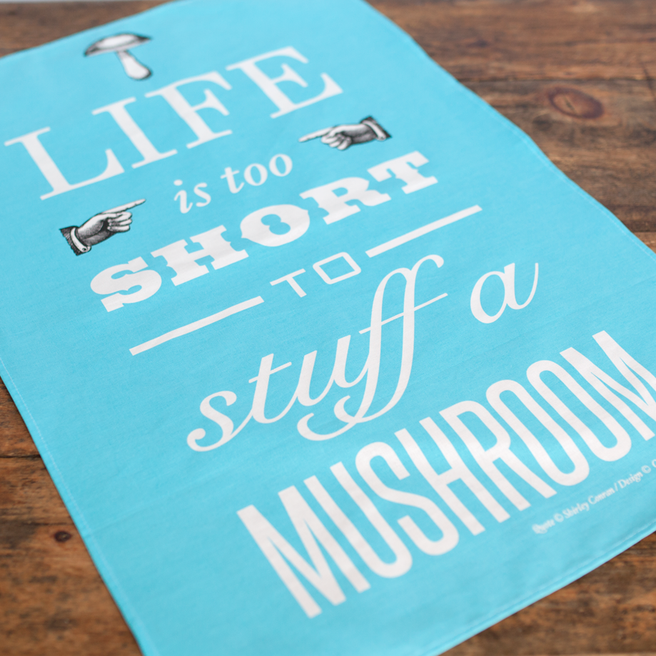 DISCONTINUED 'Life is too short..' Tea Towel - Blue-Tea Towel-Of Life & Lemons®