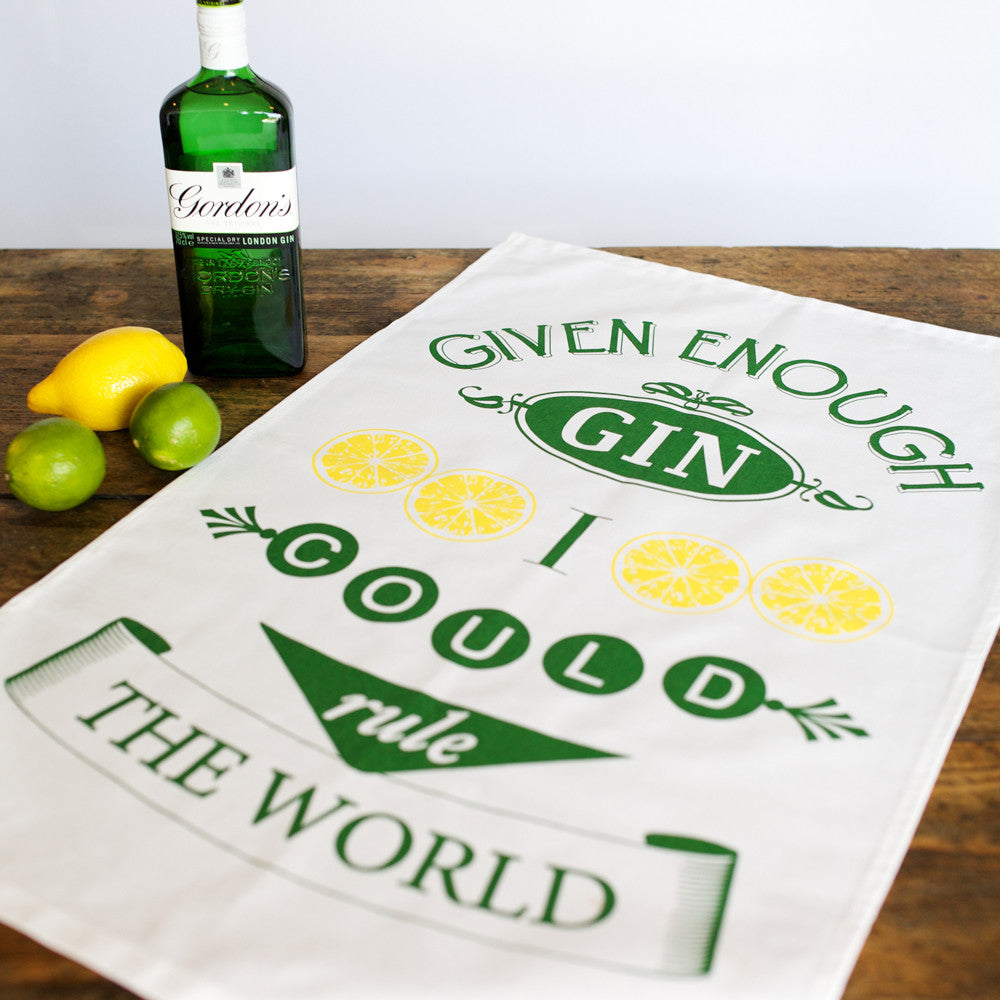 Funny Gin Tea Towel-Tea Towel-Of Life & Lemons®