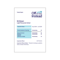 Personalised Report Print for Teacher-A4 Print-Of Life & Lemons®