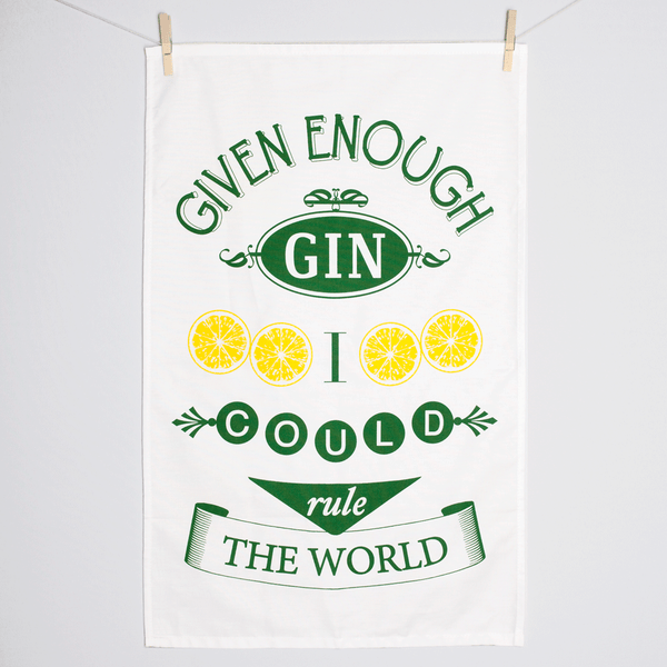 Gin Quote Tea Towel