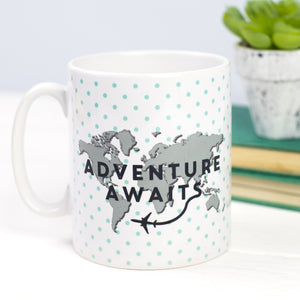 Adventure Awaits World Map Gift for Traveller