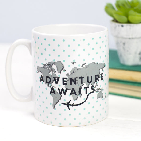 'Adventure Awaits' World Map Mug
