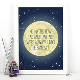 Copy of Personalised Long Distance Moon Print
