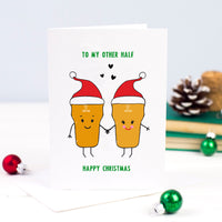 'To My Other Half' Beer Christmas Card-A4 Print-Of Life & Lemons®