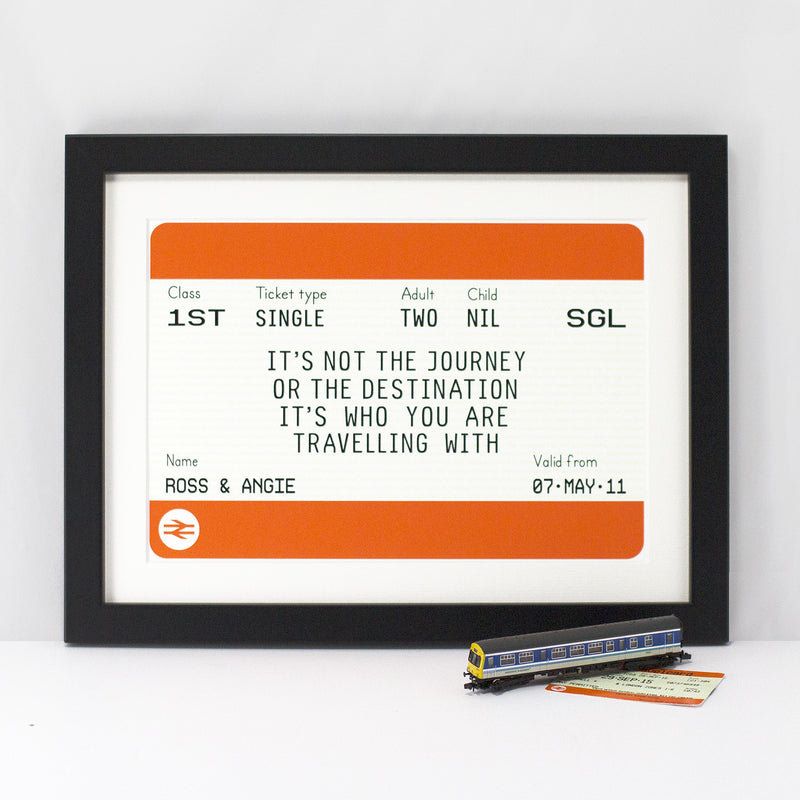 Personalised Train Ticket Print-A4 Print-Of Life & Lemons®