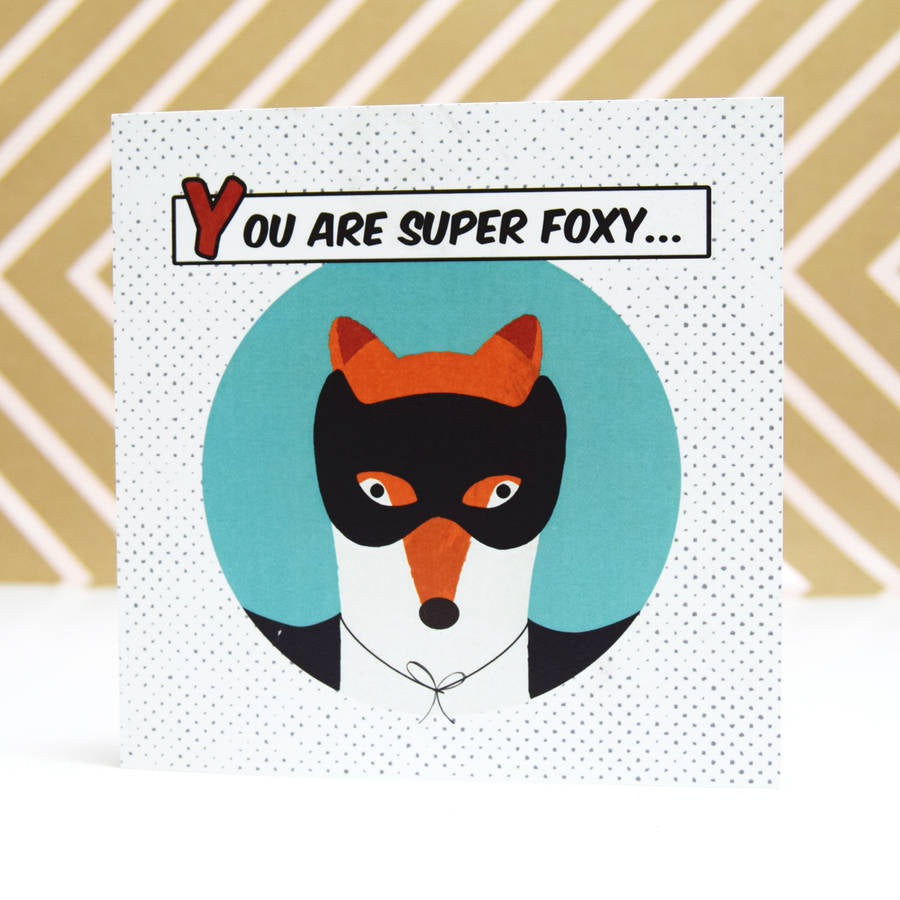 DISCONTINUED - 'Super Foxy' Card-A4 Print-Of Life & Lemons®