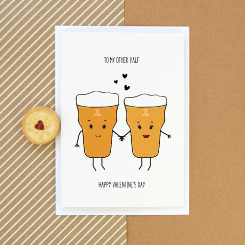 'My Other Half' Beer Valentine's Card-Of Life & Lemons®