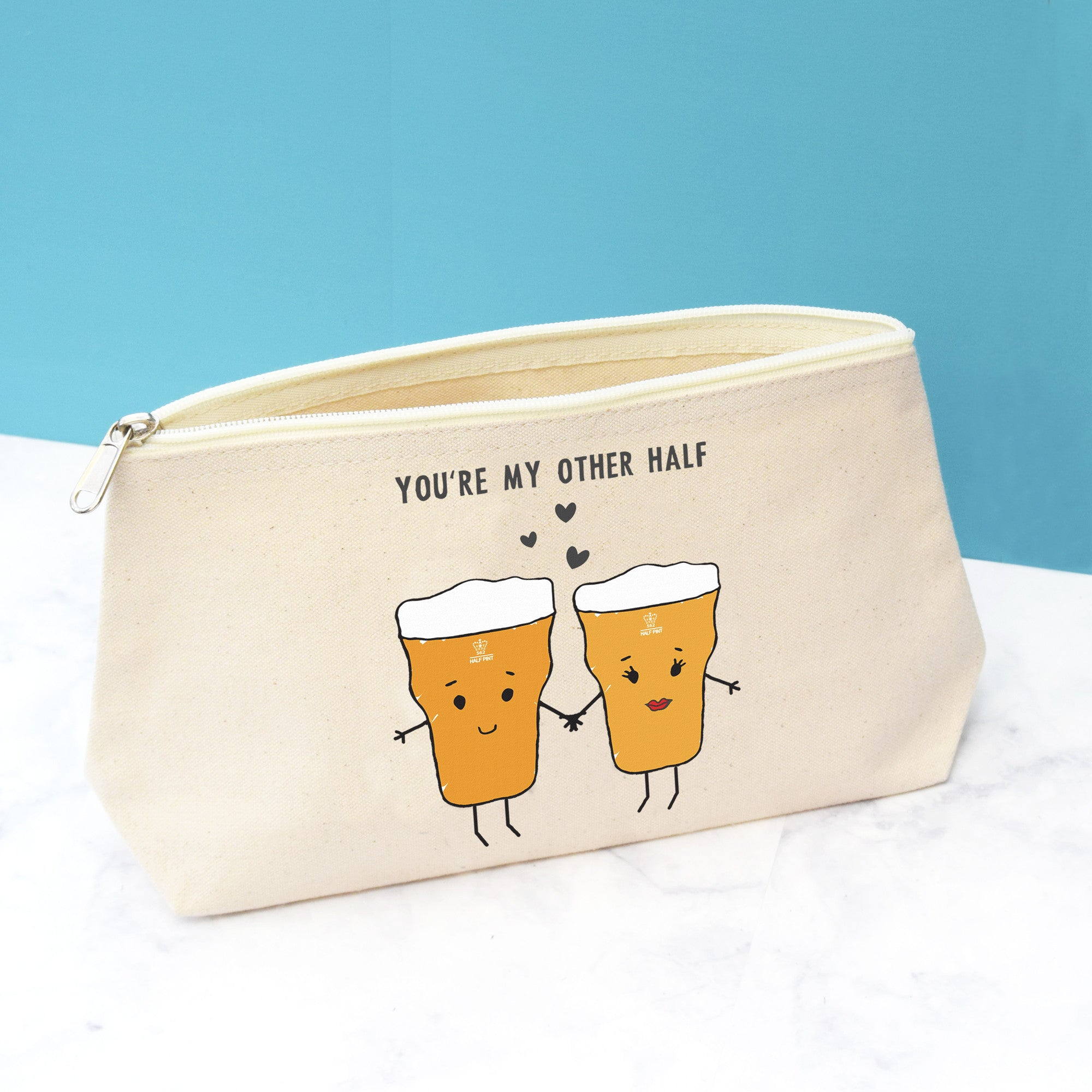 'You're My Other Half' Wash Bag