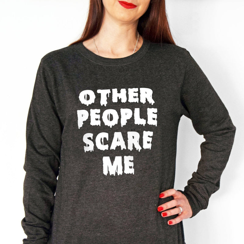 'Other People Scare Me' Ladies Sweatshirt-Tote Bag-Of Life & Lemons®