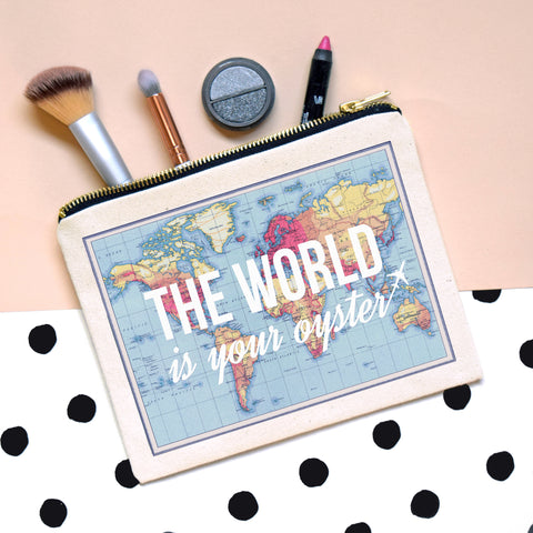 'World is Your Oyster' Make Up Bag