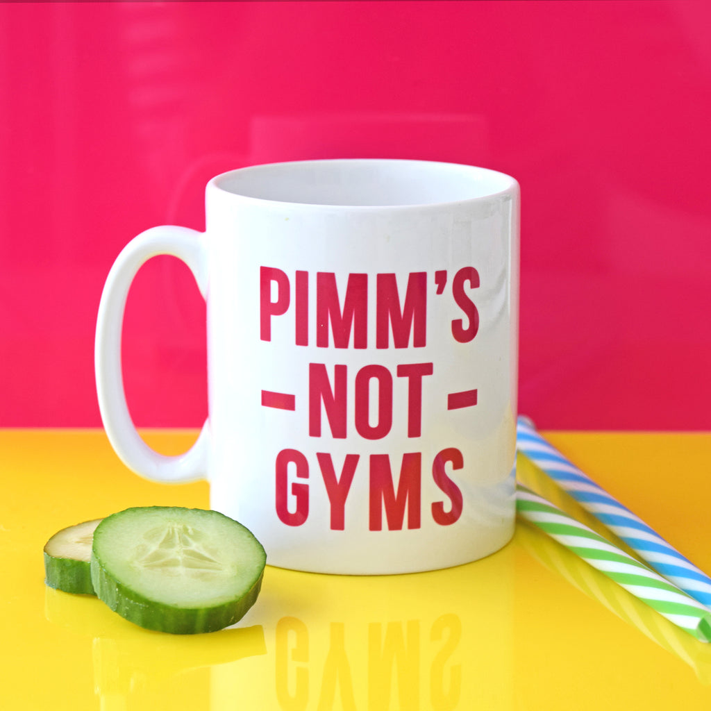 'Pimm's Not Gyms' Mug-Of Life & Lemons®