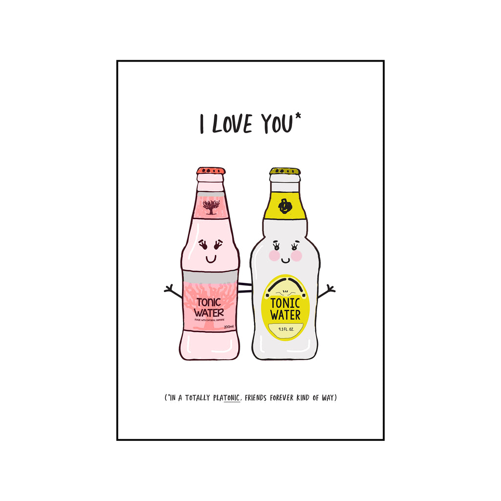 Funny 'PlaTONIC' Card for Friend-Of Life & Lemons®