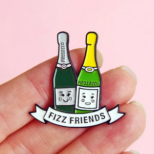 Prosecco Friendship Enamel Pin Badge
