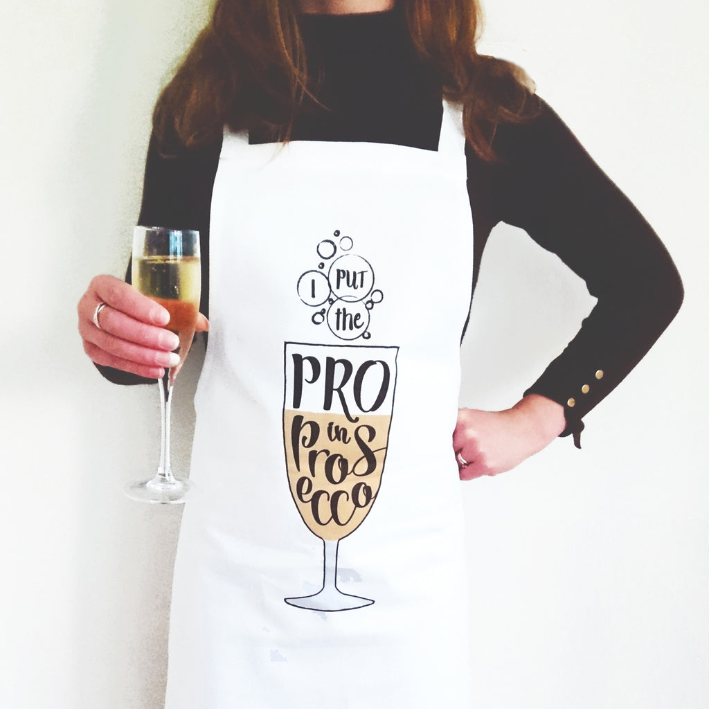 Funny Prosecco Apron-Aprons-Of Life & Lemons®