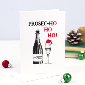 Funny Prosecco Christmas Card