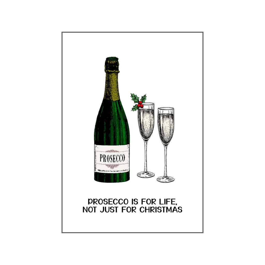 'Prosecco is For Life' Christmas Fridge Magnet-Of Life & Lemons®