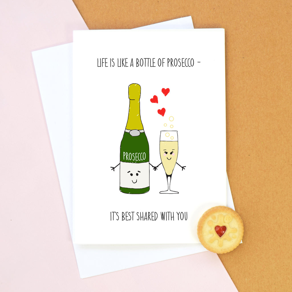 Prosecco Lovers Valentine's Card-Of Life & Lemons®
