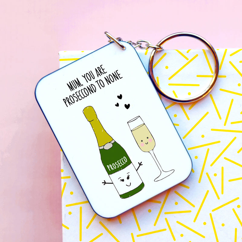 DISCONTINUED Funny Prosecco Keyring for Mum-Of Life & Lemons®