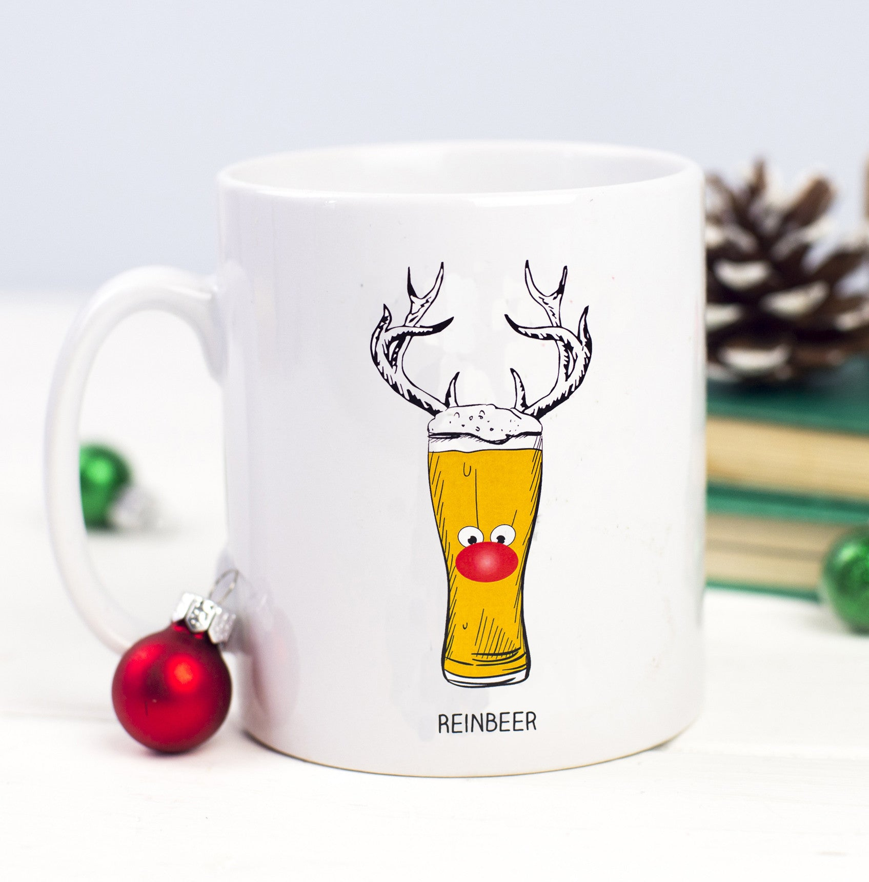 DISCONTINUED - 'Reinbeer' Christmas Mug