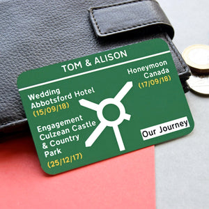 Personalised Road Sign Wallet Keepsake-Keyring-Of Life & Lemons®