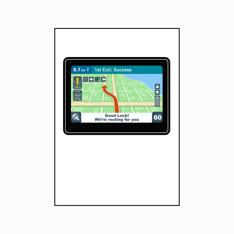 Funny Sat Nav 'Routing for you' Good Luck Card-Of Life & Lemons®