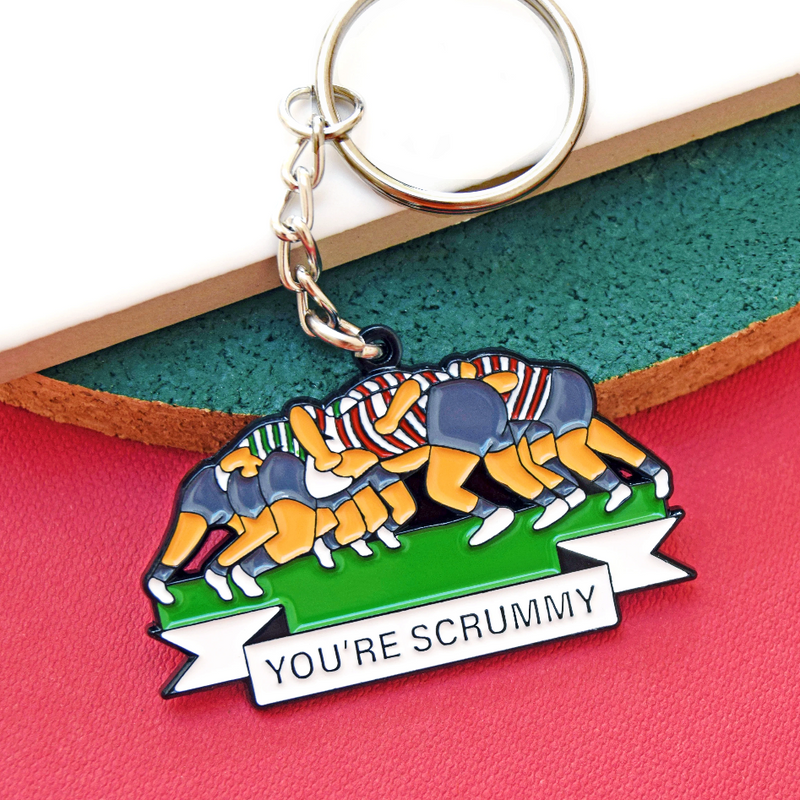 'You're Scrummy' Funny Rugby Keying