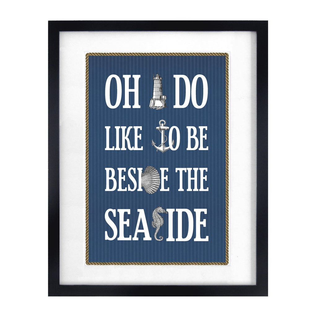 Nautical Seaside Print-A4 Print-Of Life & Lemons®