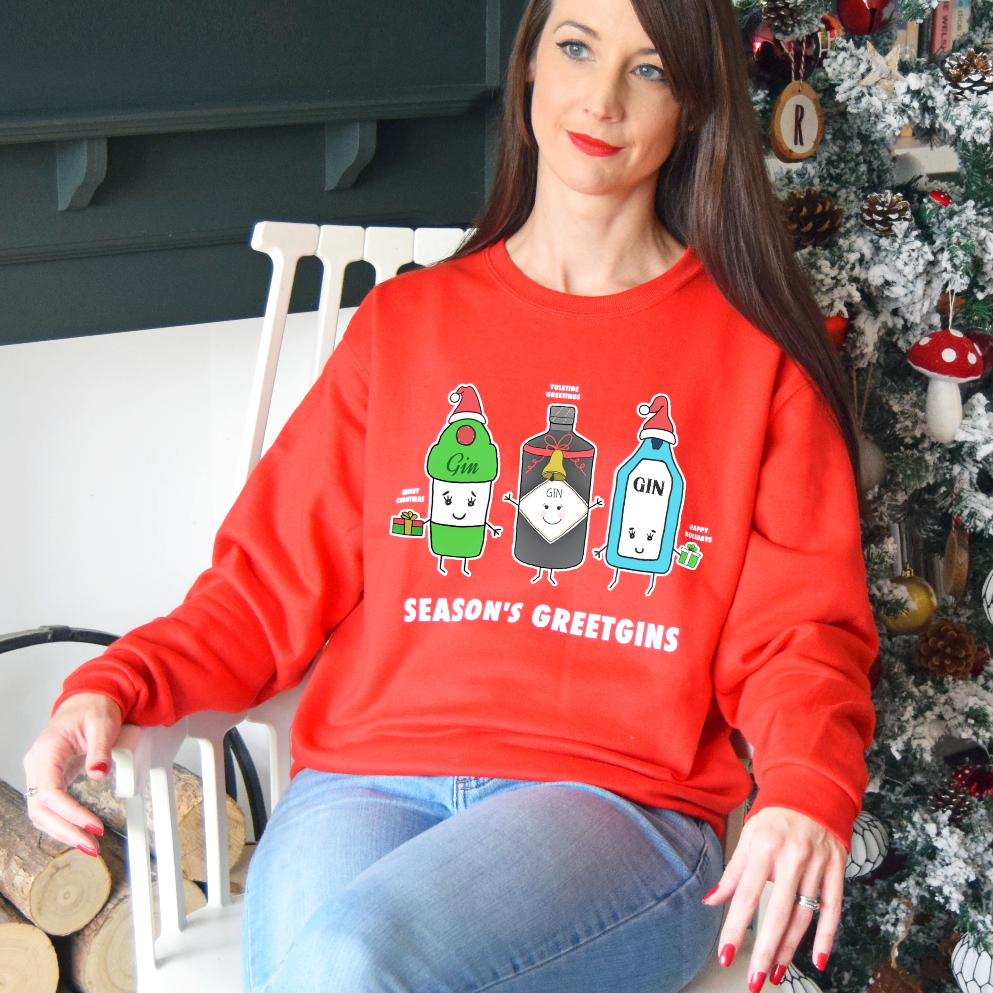 'Season's Greetgins' Christmas Jumper-Tote Bag-Of Life & Lemons®
