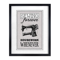 Vintage Sewing Quote Print-A4 Print-Of Life & Lemons®