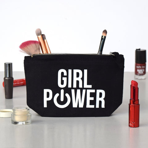 'Girl Power' Small Make Up Bag-Tote Bag-Of Life & Lemons®