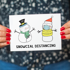 Funny Social Distancing Christmas Card