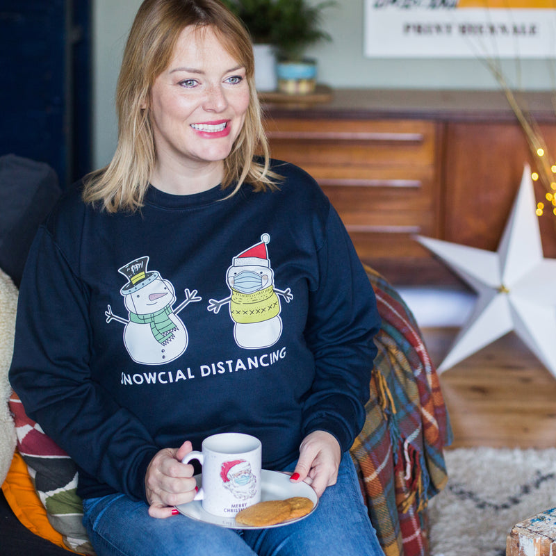 Funny Social Distancing Christmas Jumper