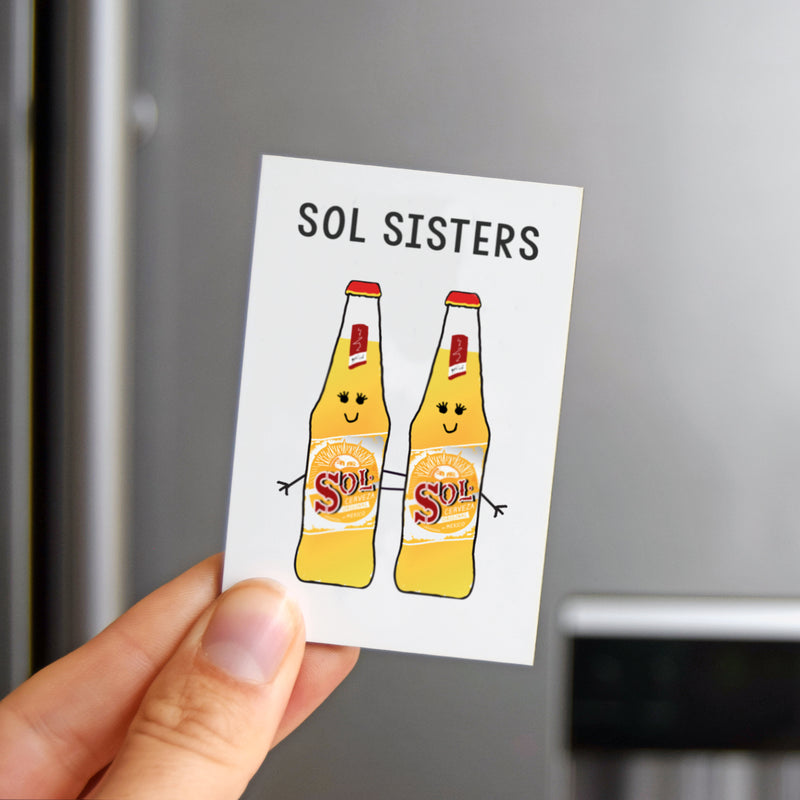 'Sol Sisters' Friendship Fridge Magnet-Of Life & Lemons®