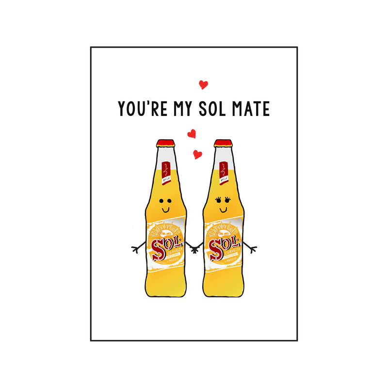 'Sol Mate' Beer Valentine's Card-Of Life & Lemons®