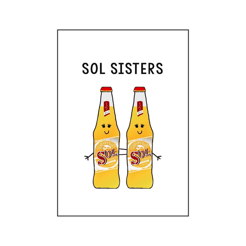 'Sol Sisters' Beer Friendship Card-Of Life & Lemons®
