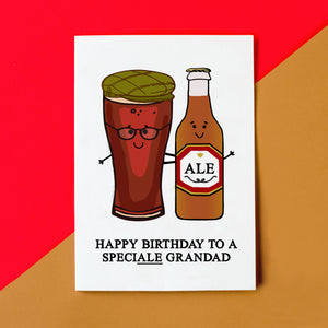 SpeciALE Grandad' Beer Birthday Card