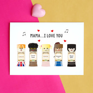 Funny Spice Girls Mother's Day Card-A4 Print-Of Life & Lemons®