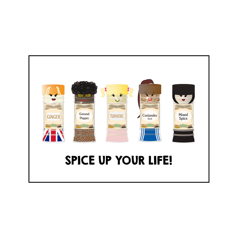 Funny 'Spice Girls' Card for Friend-Of Life & Lemons®