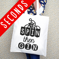 SLIGHT SECOND - 'Spin then Gin' Tote Bag-Tote Bag-Of Life & Lemons®