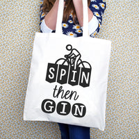 'Spin then Gin' Tote Bag-Tote Bag-Of Life & Lemons®
