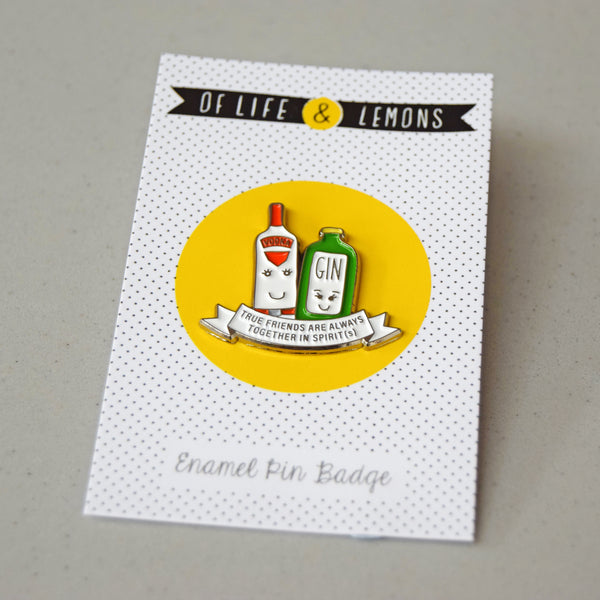 'Together in Spirits' Friendship Enamel Pin Badge-Of Life & Lemons®